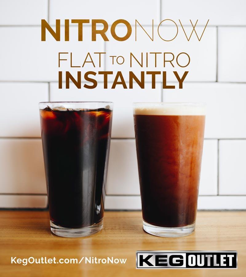 NitroNow Single Faucet Instant / On-Demand Nitro Coffee Kegerator