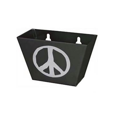 Peace Sign Bottle Cap Catcher - Black