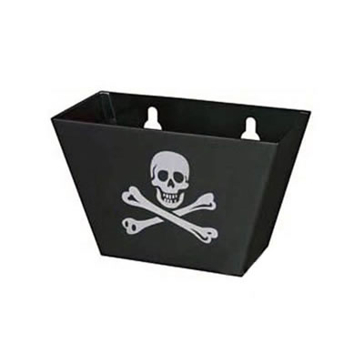Skull Bottle Cap Catcher - Black