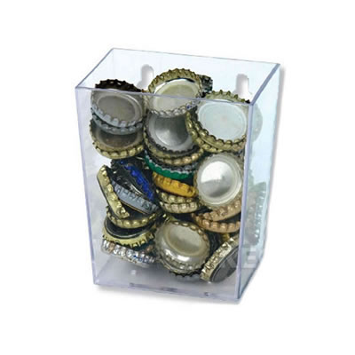 Clear Bottle Cap Catcher