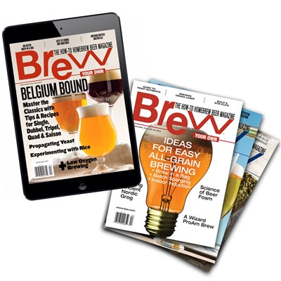 Brew Your Own Magazine - 1 Year Discounted DIGITAL & PRINT Subscription