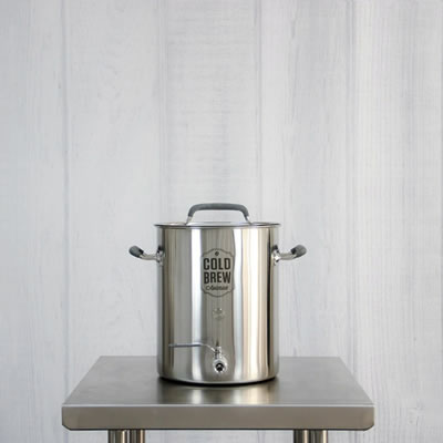 Small Stainless Steel Cold Brew Coffee System (5.5 Gallon / 50 micron)