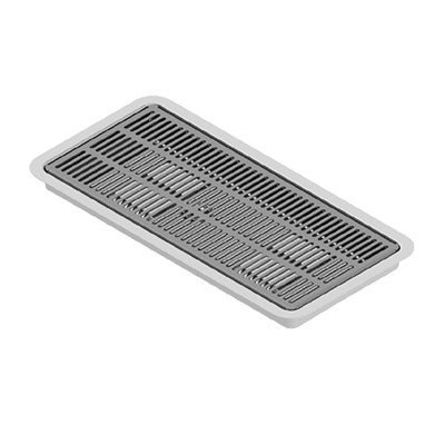 "16"" x 7"" Flush Mount Drip Tray with Drain"