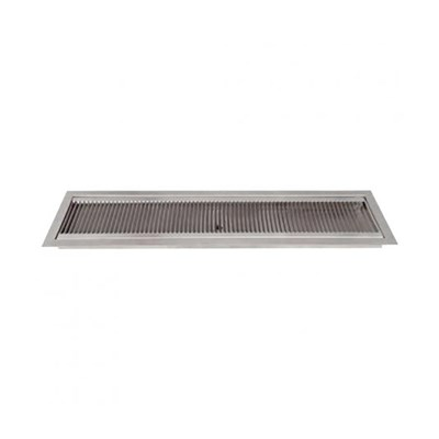 "24"" x 5.25"" Flush Mount Drip Tray with Drain"