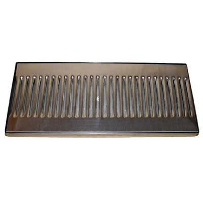 "14""x6"" Surface Mounted Drip Tray - Stainless Steel"