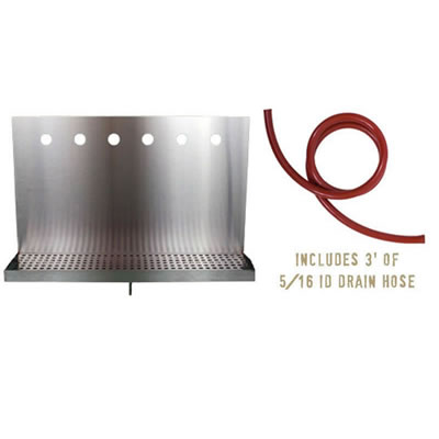 Drip Tray for 6 Draft Beer Faucets - with drain