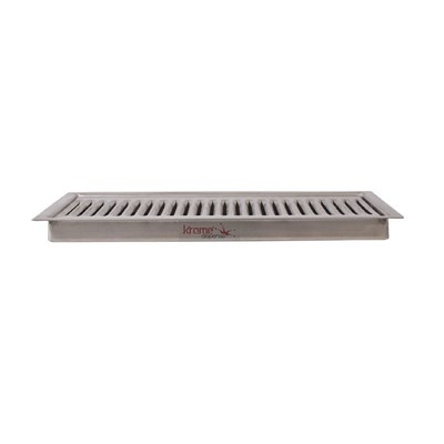 "12""x5"" Flush Mount Drip Tray with Drain"