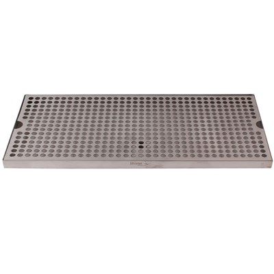 "18""x8"" Surface Mounted Drip Tray with Drain"