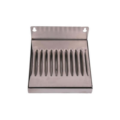 "6""x6"" Wall Mounted Drip Tray - Stainless Steel - No Drain"