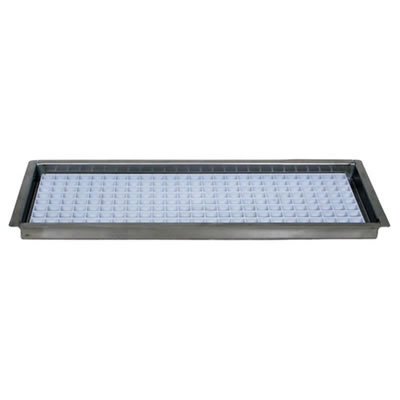 Flush Mount Drip Tray with Removable Grid - with Drain - 8 1/8""