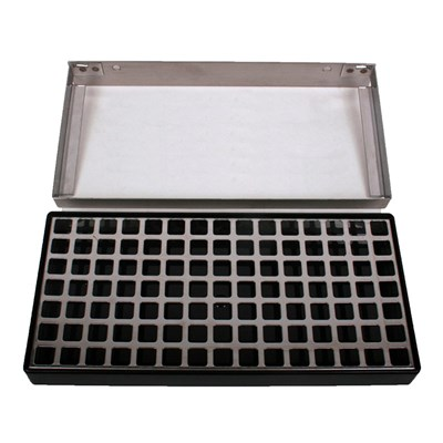 "12"" X 5"" X 1 1/4 "" Wall Mount Deep Drip Tray - No Drain"