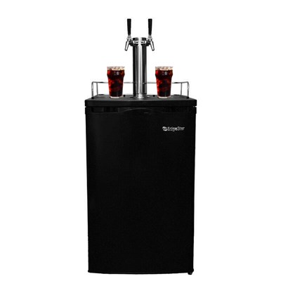 Cold Brew Coffee Kegerator - 2 Faucets (Black)