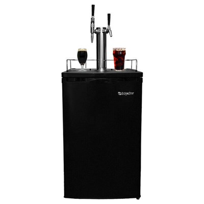 Cold Brew & Nitro Coffee Kegerator - 2 Faucets (Black)