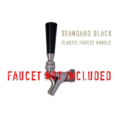 Faucet Handle - Standard Black Handle with Brass Insert