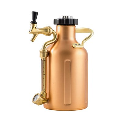 GrowlerWerks Pressurized Copper Growler with Faucet - 64 oz