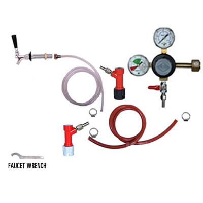 Refrigerator Keg Kit - Taprite Regulator - Single Tap - PIN LOCK