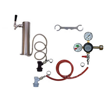1 Faucet Tower Keg Kit - Taprite Regulator - BALL LOCK