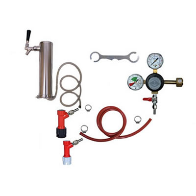1 Faucet Tower Keg Kit - Taprite Regulator - PIN LOCK