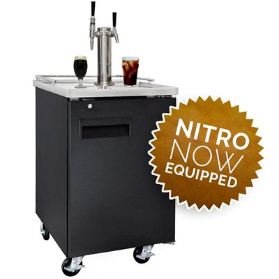 NitroNow Commercial Dual Faucet On-Demand Nitro Coffee & Iced Coffee Kegerator