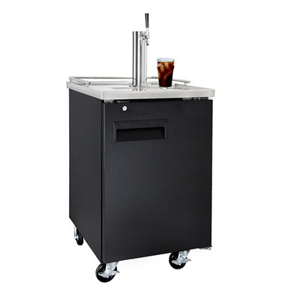 Cold Brew Coffee Commercial Grade Kegerator - Single Faucet (Black/Ball Lock)