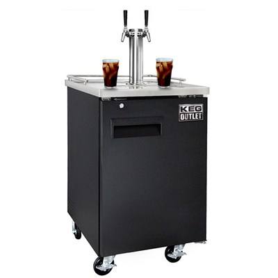 Cold Brew Coffee Commercial Grade Kegerator - Dual Faucet (Ball Lock)