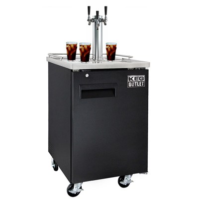 Cold Brew Coffee Commercial Grade Kegerator - 3 Faucet (Black)