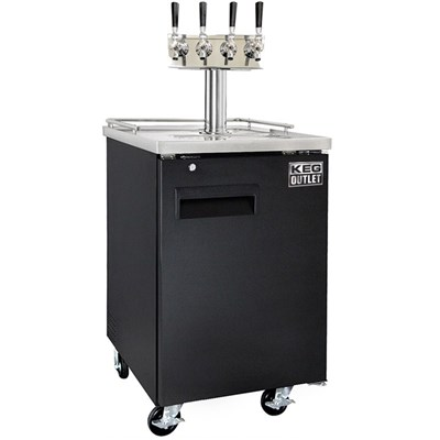 Cold Brew Coffee Commercial Kegerator - 4 Faucets Tower