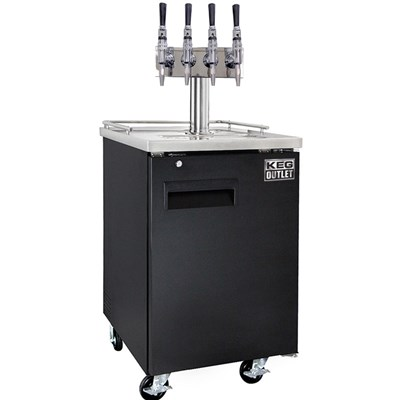 Nitro Coffee Commercial Kegerator - 4 Faucets Tower