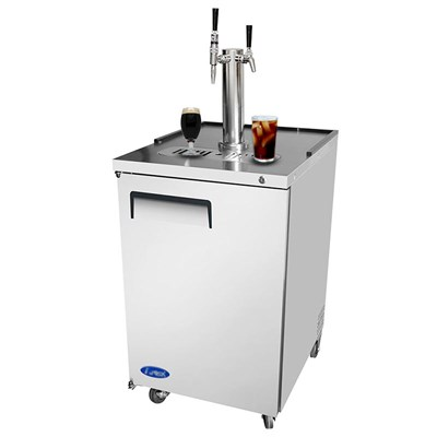 Dual Coffee Commercial Kegerator - Nitro + Still (Stainless Steel)