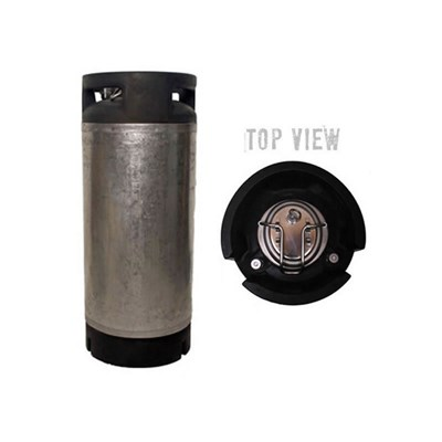 Used Converted 5 Gallon Ball Lock Corny Keg (New Lid)