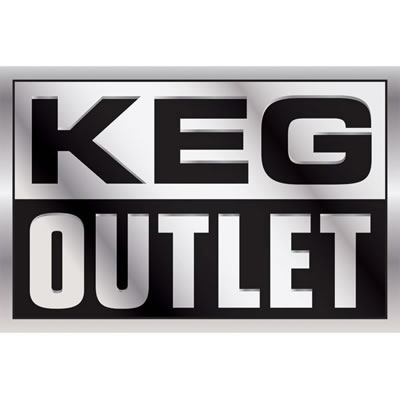 "Keg Outlet Sticker (4X6"")"