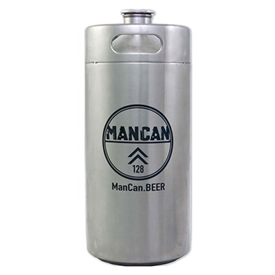 ManCan Stainless Steel Growler Mini-Keg (128 oz)