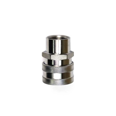 "Stainless Steel Female Quick Disconnect to 1/2"" FPT"