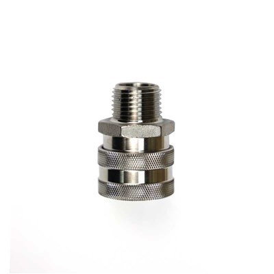 "Stainless Steel Female Quick Disconnect to 1/2"" NPT"