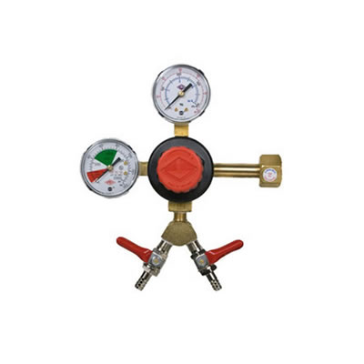 CO2 Beer Regulator - Dual Gauge - Dual Valve - Taprite