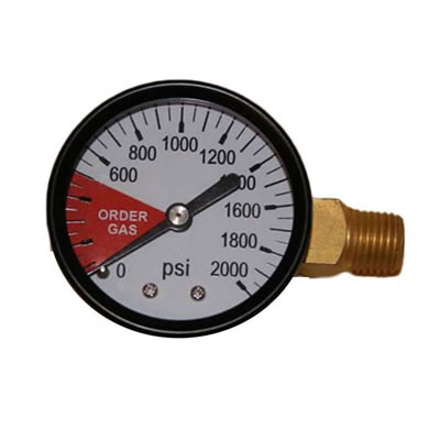 Regulator Gauge - 0-2000 PSI