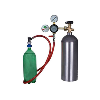 Soda Carbonating Kit - Taprite Regulator - 5 lb CO2 Tank