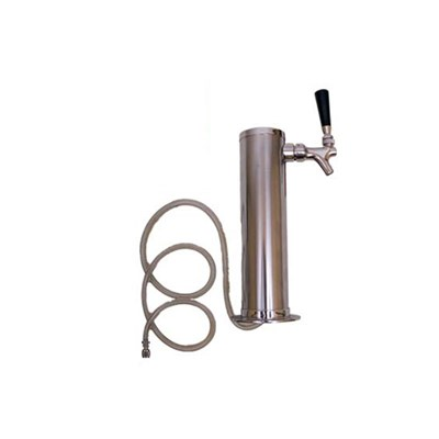 "Stainless Steel Beer Tower - 1 Faucet - 3"" Tower"