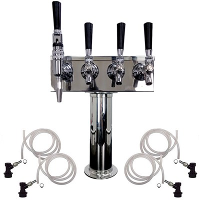 4 Faucet Cold Brew Coffee Draft Tower - 3 Cold Brew & 1 Nitro