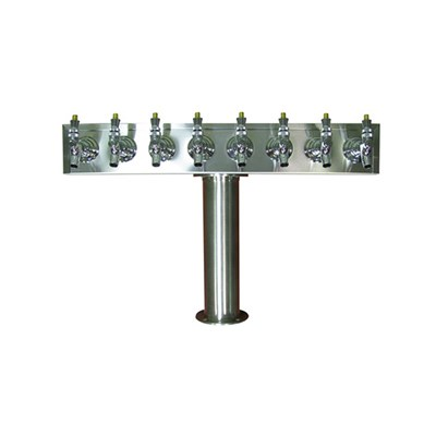 Beer Tower - 8 Faucets - Stainless Steel