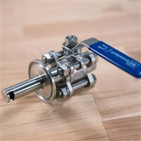 "1.5"" Triclamp Ball Valve with Whirlpool /"