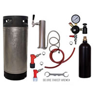 1 Faucet Tower Keg Kit - 20oz CO2 - PIN LOCK - Complete Kit /