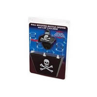 Skull and Cross Bones Bottle Opener and Cap Catcher Combo /