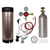 Basic Homebrew Keg Kit - BALL LOCK - Taprite Regulator /