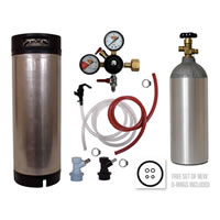 Basic Homebrew Keg Kit - Used Ball Lock Keg /