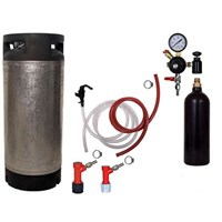 Basic Homebrew Keg Kit - 20oz CO2 - PIN LOCK /