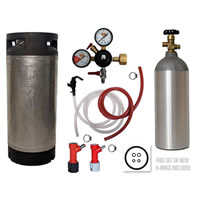 Basic Homebrew Keg Kit - Used Pin Lock Keg /