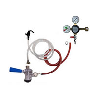 Party Keg Kit - 1 Faucet - Dual Gauge Taprite Regulator /