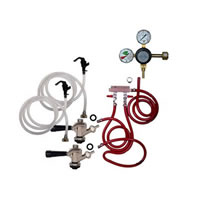 Party Keg Kit - 2 Faucet - Dual Gauge Taprite Regulator /