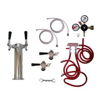 Kegerator Tower Conversion Kit - 2 Taps /